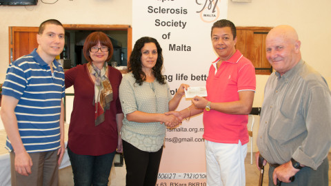 Donation to the Multiple Sclerosis Association – 2015